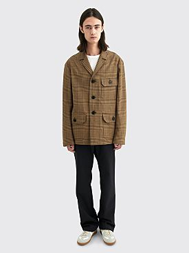 Dries Van Noten Bolt Jacket Checkered Beige