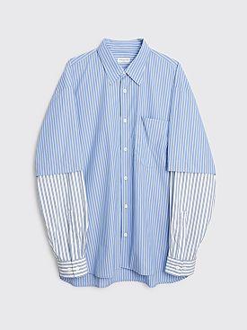 Dries Van Noten Carle Shirt Light Blue Stripes