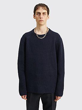 Dries Van Noten Task Sweater Navy