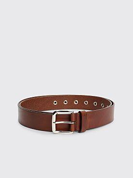 Dries Van Noten Leather Belt Tan