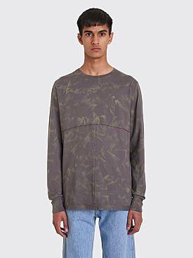 Eckhaus Latta Lapped Long Sleeve T-shirt Grey
