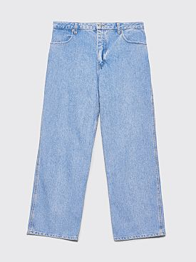 Eckhaus Latta Wide Leg Jean Light Blue