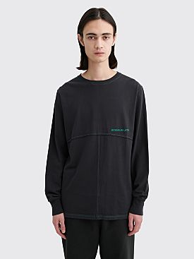 Eckhaus Latta Lapped Long Sleeve T-shirt Stretch Limo
