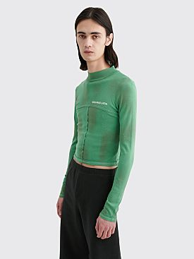 Eckhaus Latta Lapped Baby Turtleneck Green Galaxy
