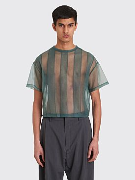 Eckhaus Latta Applique Boxy T-shirt Sage