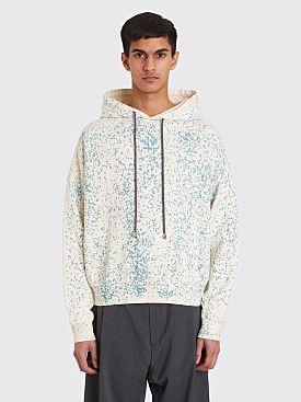 Eckhaus Latta Hooded Sweatshirt Terrazzo White