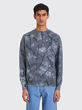 Eckhaus Latta Sweatshirt Inkblot Blue