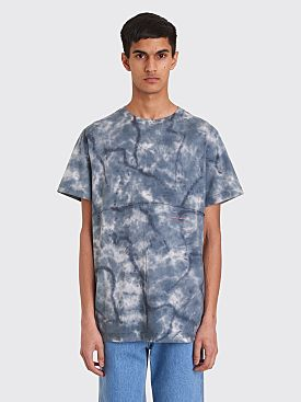 Eckhaus Latta Lapped T-shirt Inkblot Blue