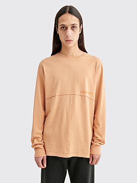 Eckhaus Latta Lapped Long Sleeve T-shirt Apricot