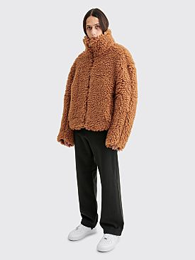 Eckhaus Latta Yeti Jacket Teddy Brown
