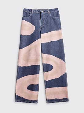 Eckhaus Latta Wide Leg Jean Blue Chemtrail