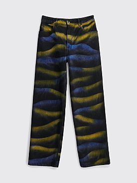 Eckhaus Latta Wide Leg Jean Shadow Dye