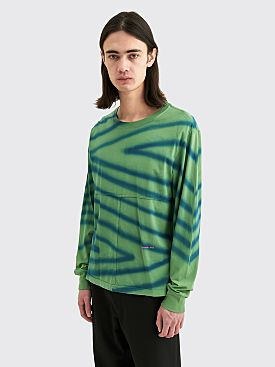 Eckhaus Latta Lapped LS T-shirt Directional Spray Green