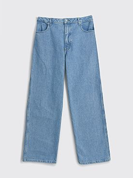 Eckhaus Latta Wide Leg Jean True Blue
