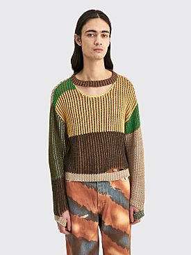 Eckhaus Latta Wiggly Road Sweater Meadow Multi
