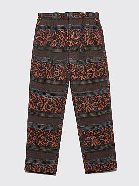 Engineered Garments Emerson Pants Black / Rust Floral Jacquard