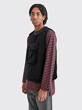 Engineered Garments Cover Vest Cotton Velveteen Black