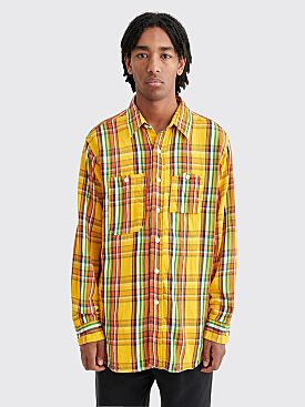 Engineered Garments Twill Plaid Work Shirt Yellow