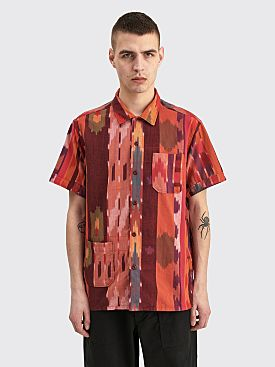 Engineered Garments Camp Shirt Red Orange