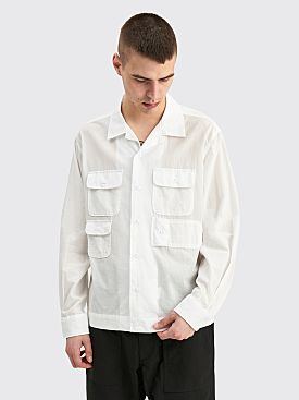 Engineered Garments Bowling Shirt White Solid