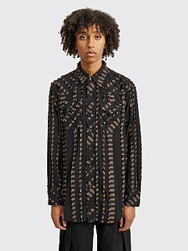 Engineered Garments Combo Western Shirt Dobby Fringe Black