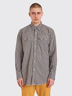 Engineered Garments Western Gingham Cotton Shirt Blue / Beige