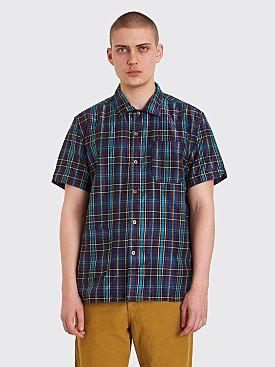 Engineered Garments Camp Shirt Multi Glitter Plaid Purple