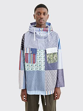 Engineered Garments Random Cagoule Patchwork Shirt Blue