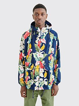 Engineered Garments Atlantic Parka Jacket Hawaiian Floral Navy