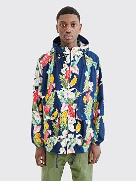 Engineered Garments Atlantic Parka Jacket Hawaiian Floral Navy