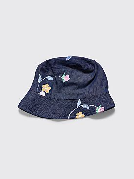 Engineered Garments Denim Bucket Hat Floral Blue