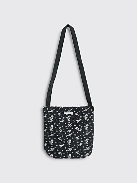 Engineered Garments Shoulder Floral Pouch Bag Black