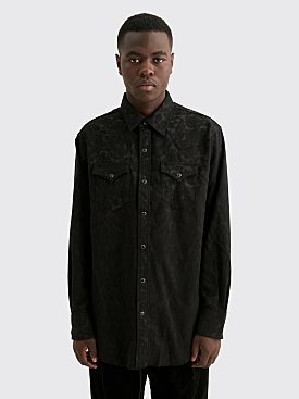 Engineered Garments Western Shirt Big Paisley Jacquard Black