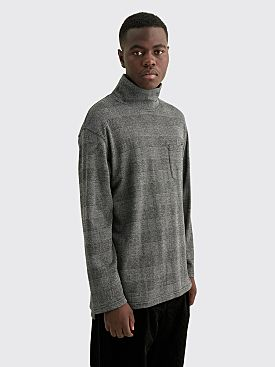 Engineered Garments Mock Turtle PC Knit Glen Plaid Grey