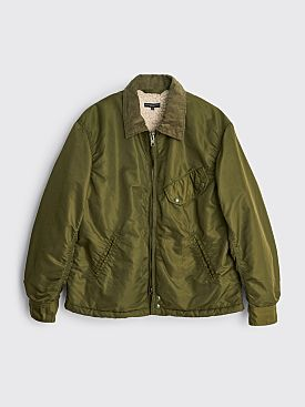 Engineered Garments Driver Jacket Flight Satin Nylon Olive