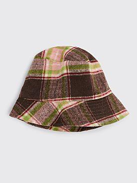 Engineered Garments Bucket Hat Brown Pink Plaid