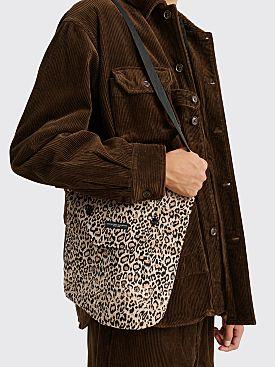 Engineered Garments Shoulder Pouch Beige Leopard