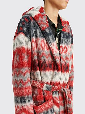 Engineered Garments Knit Robe Mohair Grey Red
