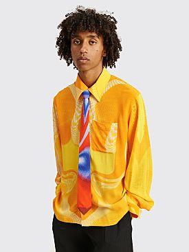 ERL Pattern LS Shirt Yellow / Orange