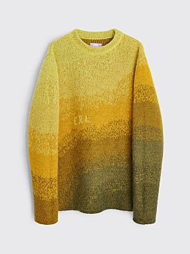 ERL Knitted Mohair Bowy Sweater Yellow
