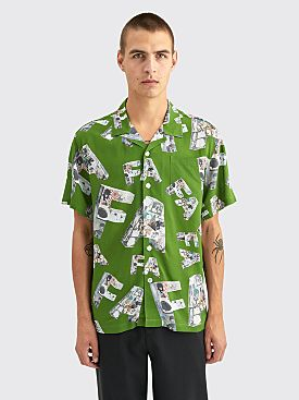 Fucking Awesome Paper Mache Club Shirt Forest Green