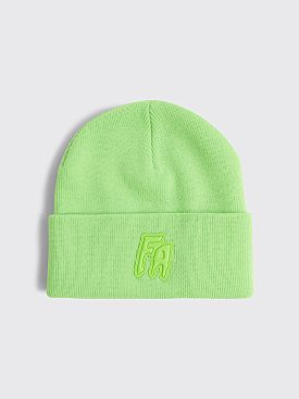 Fucking Awesome FA Applique Cuff Beanie Neon Green