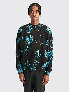 Fucking Awesome Spiral Aop Crewneck Sweater Black