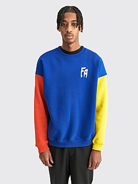 Fucking Awesome Primary Crewneck Sweater Blue