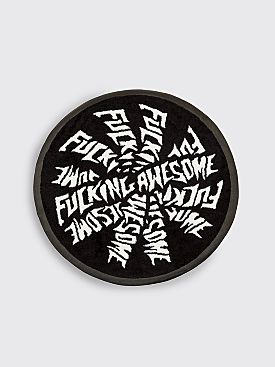 Fucking Awesome Spiral Rug Black