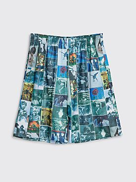 Fucking Awesome Frogman Collage Jersey Shorts All Over Print Blue / Green