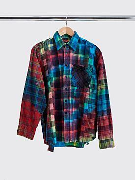 Rebuild by Needles 7 Cuts Flannel Shirt Tie Dye Size M