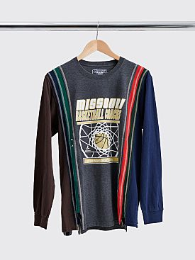 Rebuild by Needles 7 Cuts Long Sleeve T-shirt Size S