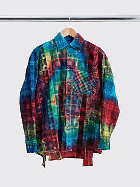 Rebuild by Needles 7 Cuts Flannel Shirt Tie Dye Size XL