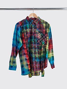 Rebuild by Needles 7 Cuts Flannel Shirt Tie Dye Size S